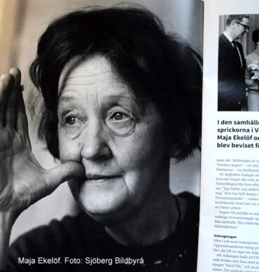 Porträtt på Maja Ekelöf